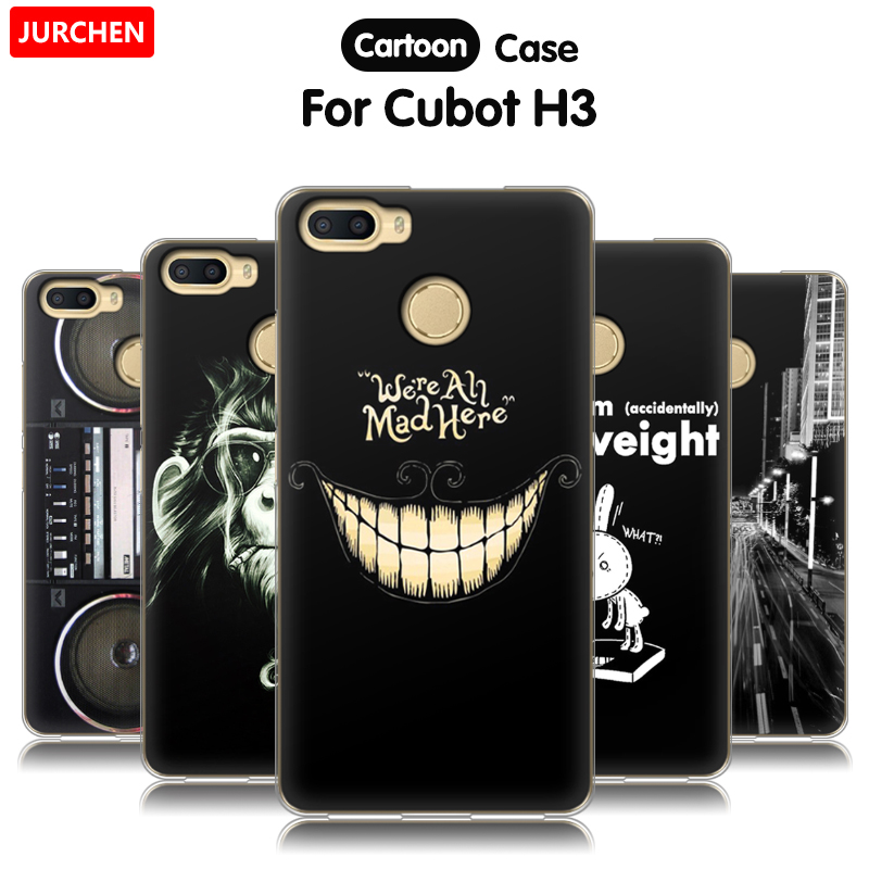 JURCHEN Cartoon Soft Case For Cubot H3 Cases Cover 5.0 inch Cute Print Protector TPU Silicone Back Cover For Cubot H3 Phone Case(China)