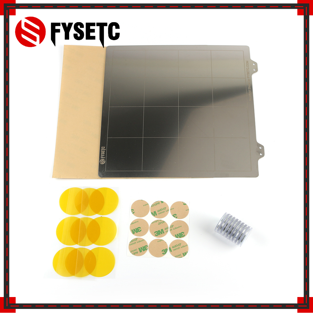 220x220mm Spring Steel Sheet +PEI+ Magnet For Becoming Magnetic Hot Bed Build Surface Plate For Wanhao I3 Anet A8 A6 Ender 5