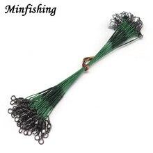 Minfishing 24 шт., стальная рыболовная веревка, проволока, леска для ловли с бочкой, поворотная леска для защиты приманки, 15 см, 23 см, 30 см