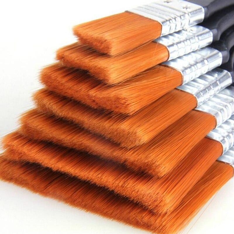 1pc Nylon Watercolor Paint Brush Gouache Oil Painting Acrylic Plate Brush Wall Oil Brush Oil Painting Stationery Graffiti Tool