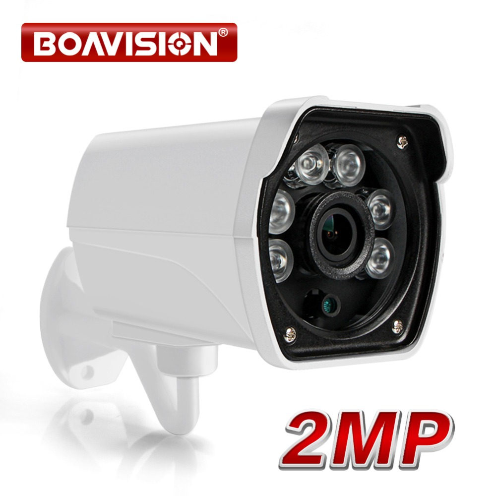 2MP IP Camera Outdoor 1080P Waterproof IP66 Network 2.0MP 1920*1080 6 Array LED Night Vision HD CCTV Camera P2P Plug Play ONVIF