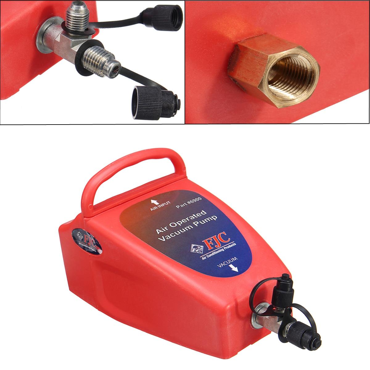 4.2CFM A/C Air Conditioning System Tool Air Operated Vacuum Pump Auto 1/2 ACME (R134a) & R12 Connector 80~150PSI Air Pressure 155 80 r12