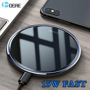 DCAE USB C Veloce 15W Caricatore Senza Fili Per Huawei P30 Pro Xiao mi mi 9 samsung S10 S9 QI 10W Carica Rapida per iPhone 11 XS XR X 8