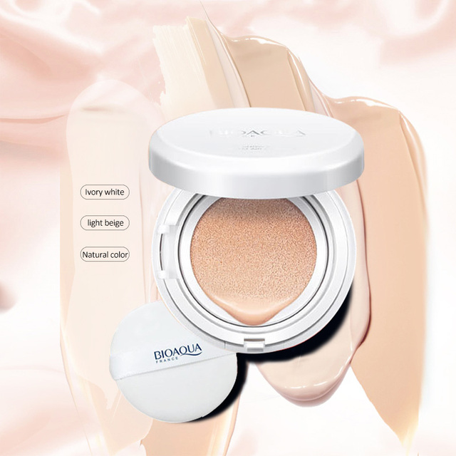 BIOAOUA Sunscreen Air Cushion BB CC Cream Concealer Moisturizing Foundation Whitening Makeup Bare For Face Beauty Makeup care 2