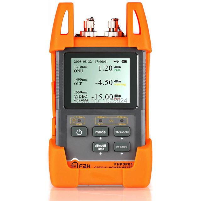 Epon GPON xPON PON medidor de potencia óptica OPM FTTx OLT-ONU 1310 / 1490 / 1550nm