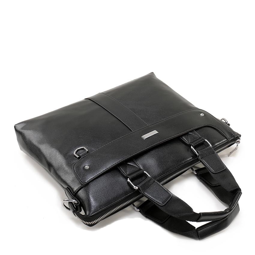 0b6ce9661 Men Casual Briefcase Business Shoulder Bag Leather Messenger Bags Mens  Travel Bags Computer Laptop Handbag Bag ...