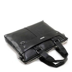 Image 4 - Vormor bolsas masculinas de couro, pasta executiva de ombro para computador e laptop 2020