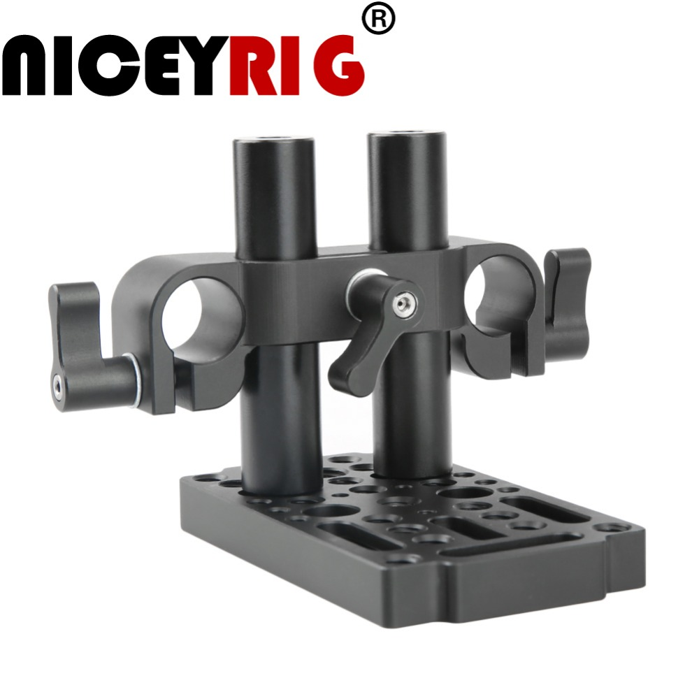 NICEYRIG Switching Cheese Easy Plate Kit with V-Lock Male Adapter for Railblocks Dovetails and Short Rods