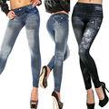 NUEVA Sexy Mujeres Jean Flaco Jeggings Elástico Delgado Leggings Moda Pantalones Flacos