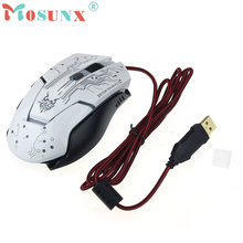 Beautiful Gift New White 6D Gaming Mouse Led Game Mice Breathing Light 2400dpi For PC Laptop Wholesale price-KXL0713