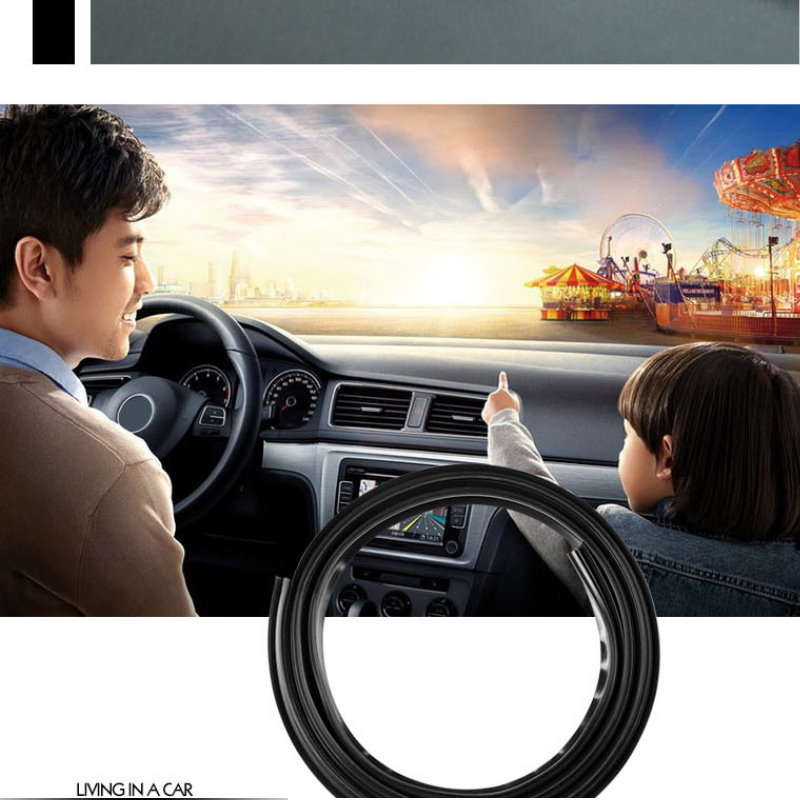 1.6m Rubber Dustproof Soundproof Sealing Strip For Auto Car Dashboard Windshield