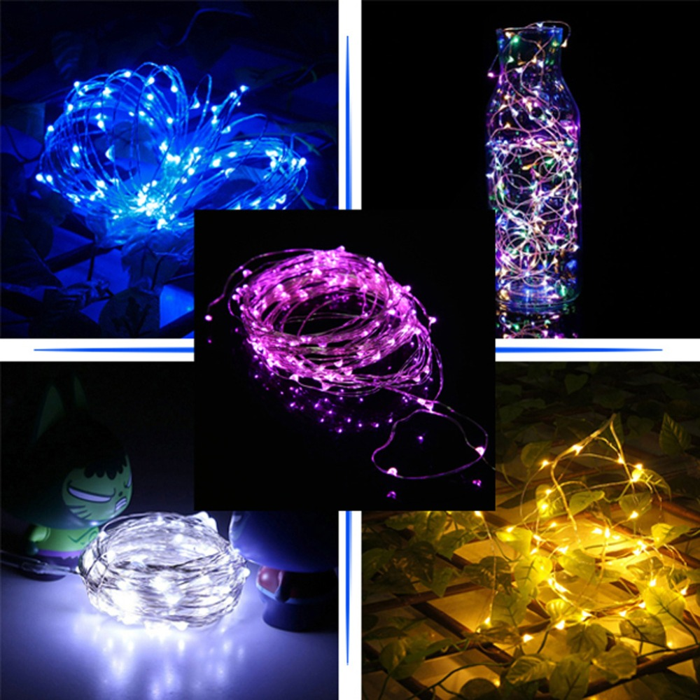 10 м 100 светодиодные фея строки свет Газа USB Водонепроницаемый открытый сад свадебный дом для вечеринок для девушек украшения спальни занаве...