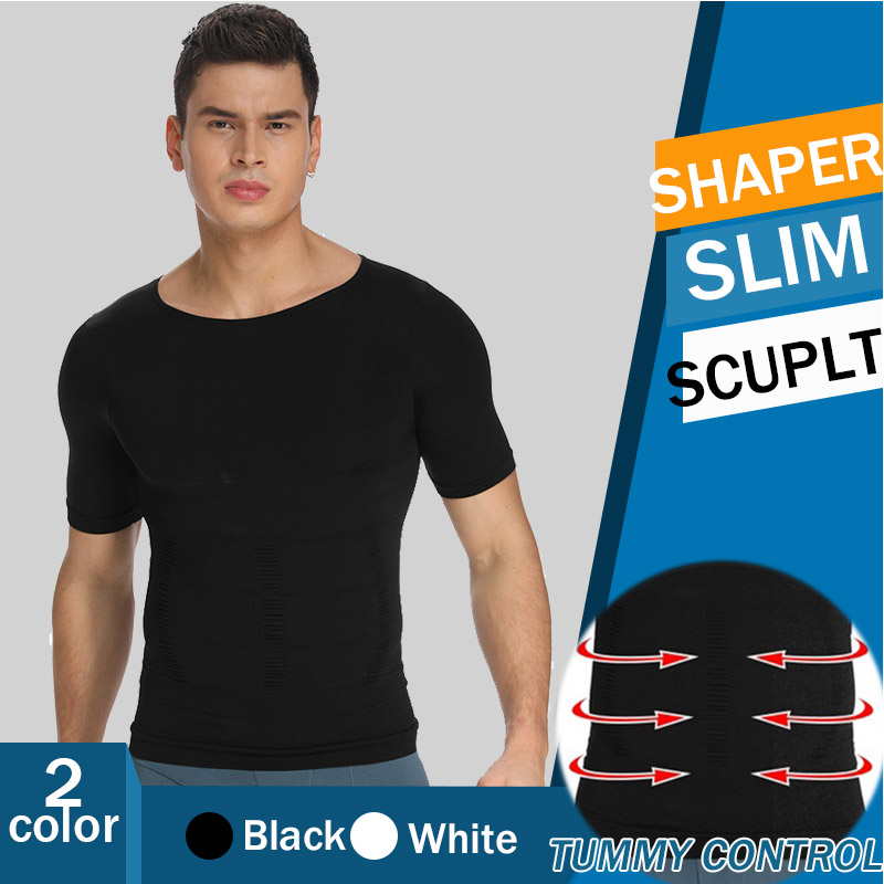 Men Slimming Body Shaper Gynecomastia Vest Shirt Compression Shirt Man Shapers Waist Trainer Corrective Posture Vest Corset