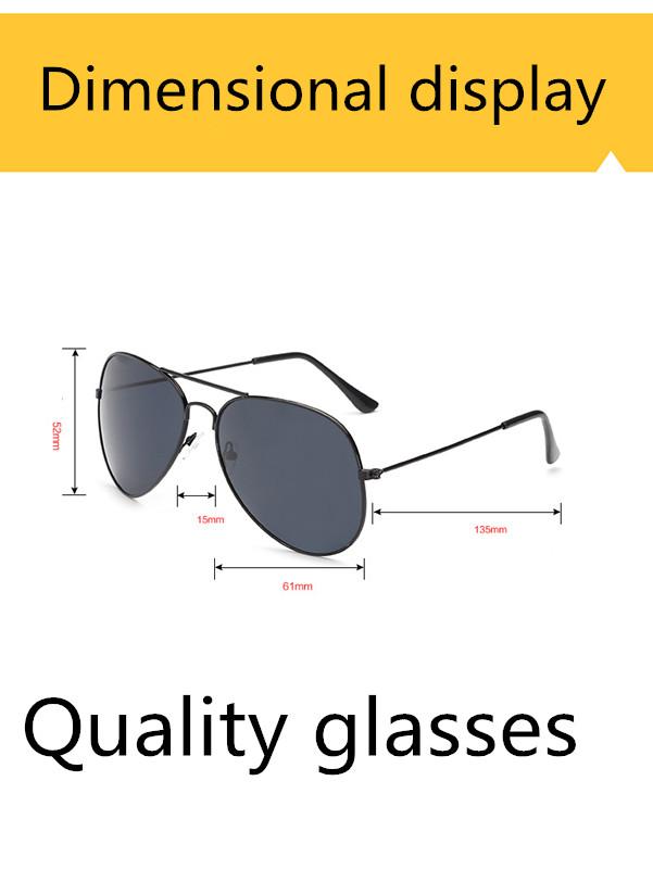 ASUOP2017 new men and women sunglasses pilots glasses high-end brand popular sun glasses goggles UV400 sunglasses sunglasses (5)