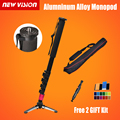 Pro Alumninum Alloy Camera DSLR Unipod Monopod Flip Lock with 4 Legs Base Tripod