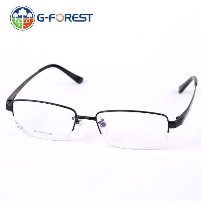 Óculos de Armações De Óculos De Titânio M1219 Homens Vidros Ópticos Quadro Marca Óculos de Leitura Claros terno Lentes de Prescrição de Óculos