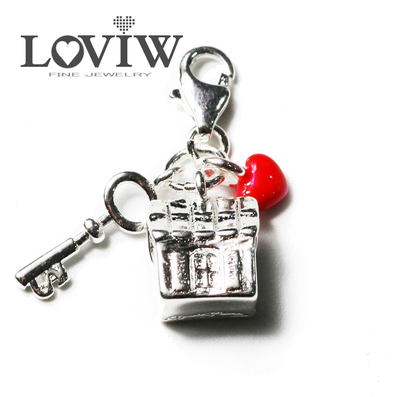 2017 Thomas Style Love House Charm, Silver Warm Home Glam Charm,Friend and Lovers Gift Charms from Jewelry & Accessories
