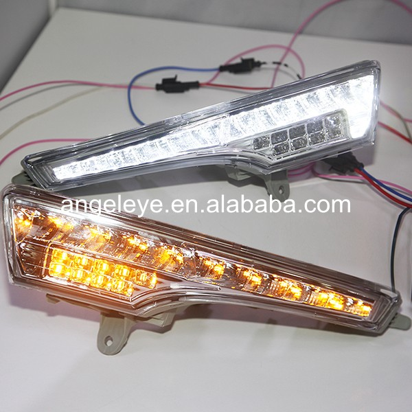 LED DRL Daytime Running Light For Nissan For TEANA 2013-2014 year with Turnning function