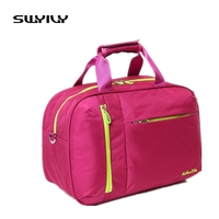 Comprar Nuevo bolso de nailon para mujer, bolso de hombro para gimnasio, bolso de almacenamiento de viaje para hombre, bolso deportivo de Fitness, tamaño pequeño