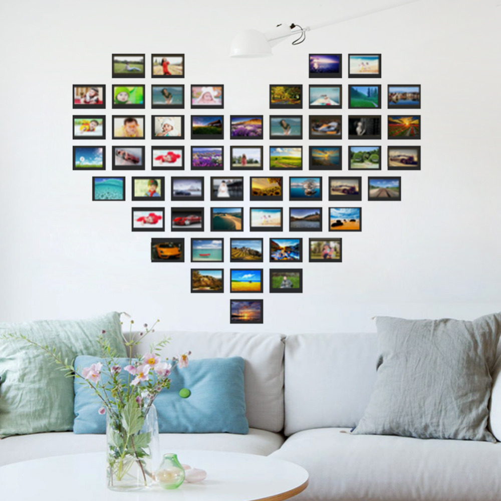 Heart design photo frame family forever memory wall decals 8521 heart design photo frame family forever memory wall decals 8521 removable pvc wall sticker home decoration diy in wall stickers from home garden on amipublicfo Choice Image