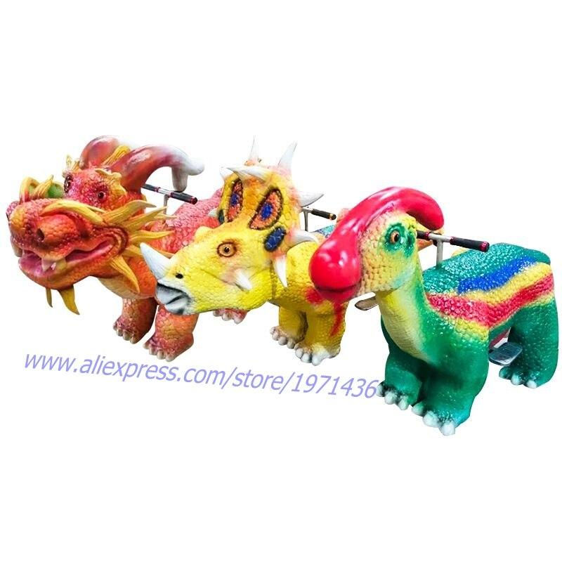 Enfants Aiment Batterie Monnayeur Électrique À Pied Scooter Dinosaure Animal de Bande Dessinée De Voiture Tour