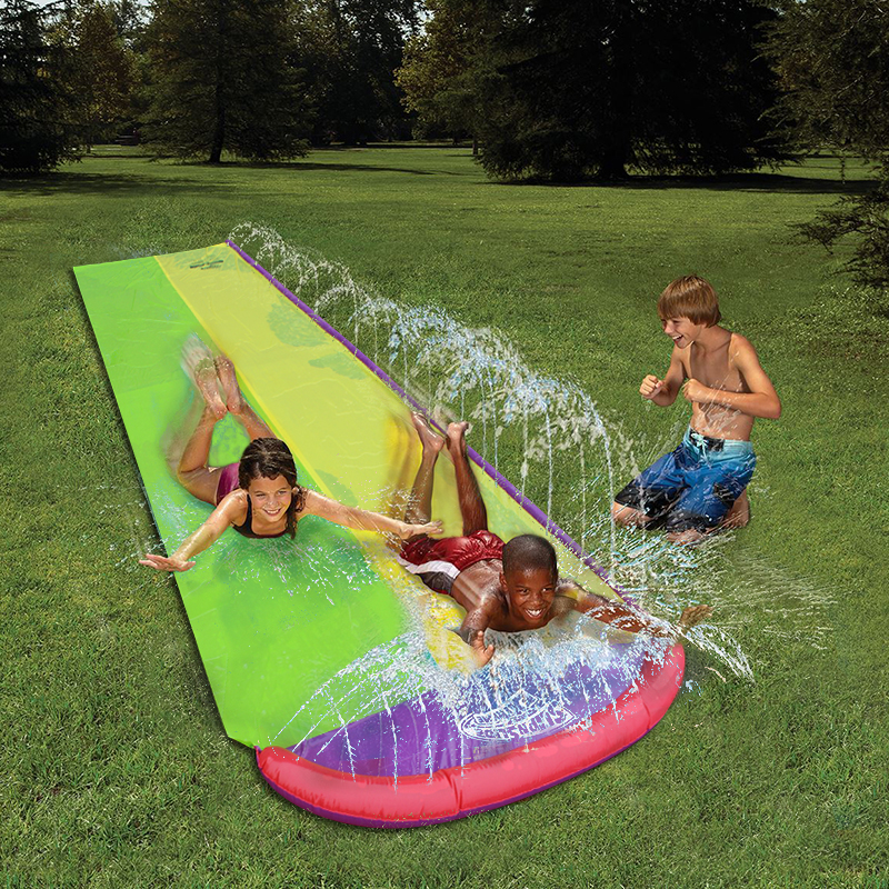 4.8m Giant Surf 'N Double Water Slide Inflatable Play ...
