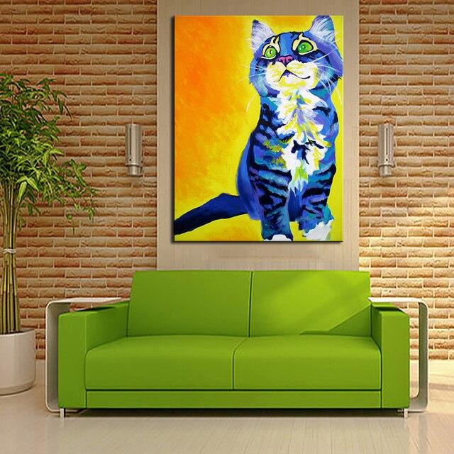 9 21 49 De Réduction énorme Impression Peinture à L Huile Mur Art Image Chat Ici Accueil Décoratif Art Image Pour Salon Mur No Cadre Dans Peinture