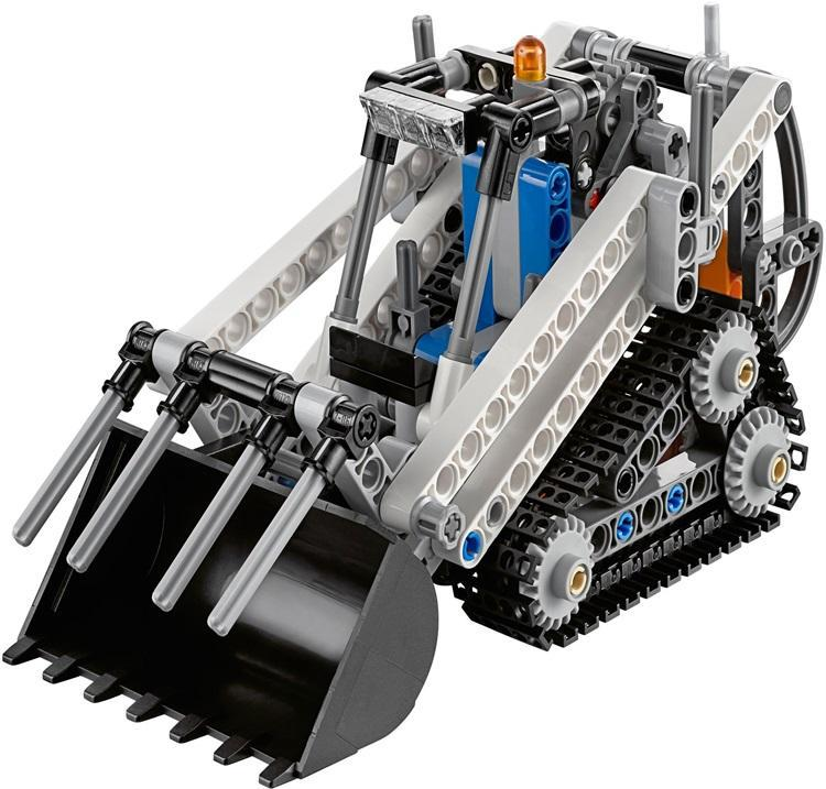 Hot Engineering vehicle Technics technology compact tracked loader 2in1 building block Bulldozer model bricks lepins toy for boy hot technician technics extreme adventure 2in1 building block remote control tracked vehicle rc cars bricks 42069 toys for kids