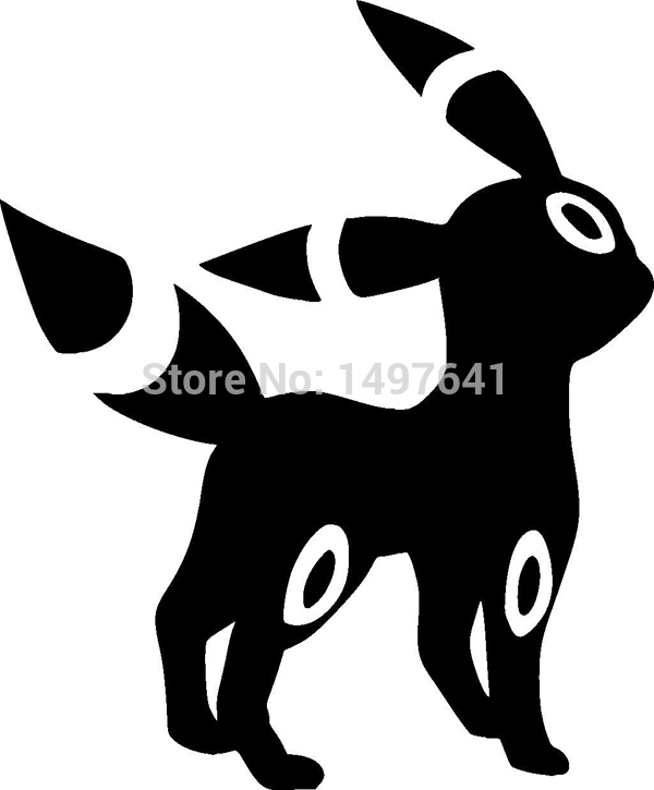 Hot Sale Umbreon Pokemon Vinyl Decal Car Window Truck Bumper Etc Anime Video Game Funny JDM sticker 13 Colors