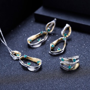 Image 5 - GEMS בלט 0.47Ct טבעי ברקת אבני חן טבעת 925 כסף סטרלינג בעבודת יד להקת טוויסט טבעות לתכשיטי נשים