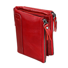 цены 2017 Hot!! New Vintage Small Women Wallets Female Genuine Leather Womens Wallet Zipper Design With Coin Purse Pockets Mini Walet