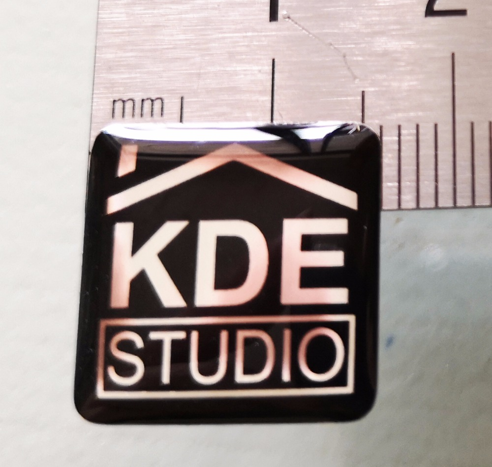 1000pcs 1.6x1.6cm 3D exposy doming resin stickers, black color on mirror silver back, shining looking, Item No. CU15