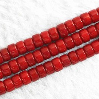 Natural red coral 4x6mm abacus loose beads diy jewelry high grade women weddings party gifts wholesale price 15inch B650