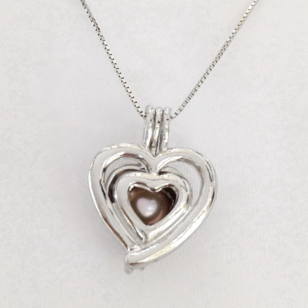 Aliexpress Com Buy Heart Love Shape Locket Pearl Pendant