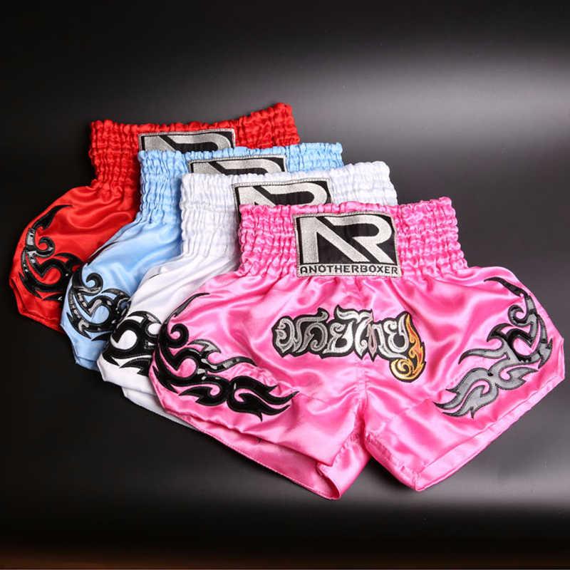 Pria Wanita Anak Laki-laki Kick Boxing MMA Muay Thai Celana Pendek Anak-anak Melawan Bergulat Batang Anak-anak Kickboxing Gadis Latihan Kebugaran Gym Celana