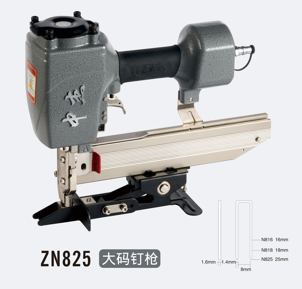 Air Gun ZN825 Air Stapler, Pneumatic Nailer Air Nailer Pneumatic Gun Pneumatic Tool Corrugated Stapler Work On  Rolling Gate