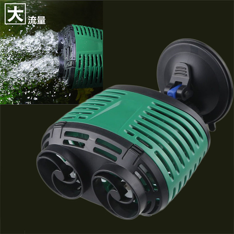 SUNSUN Double-head Aquarium Wave Maker Water Circulation Pump Fish Tank Flow Wavemaker Powerhead W/ Sucker