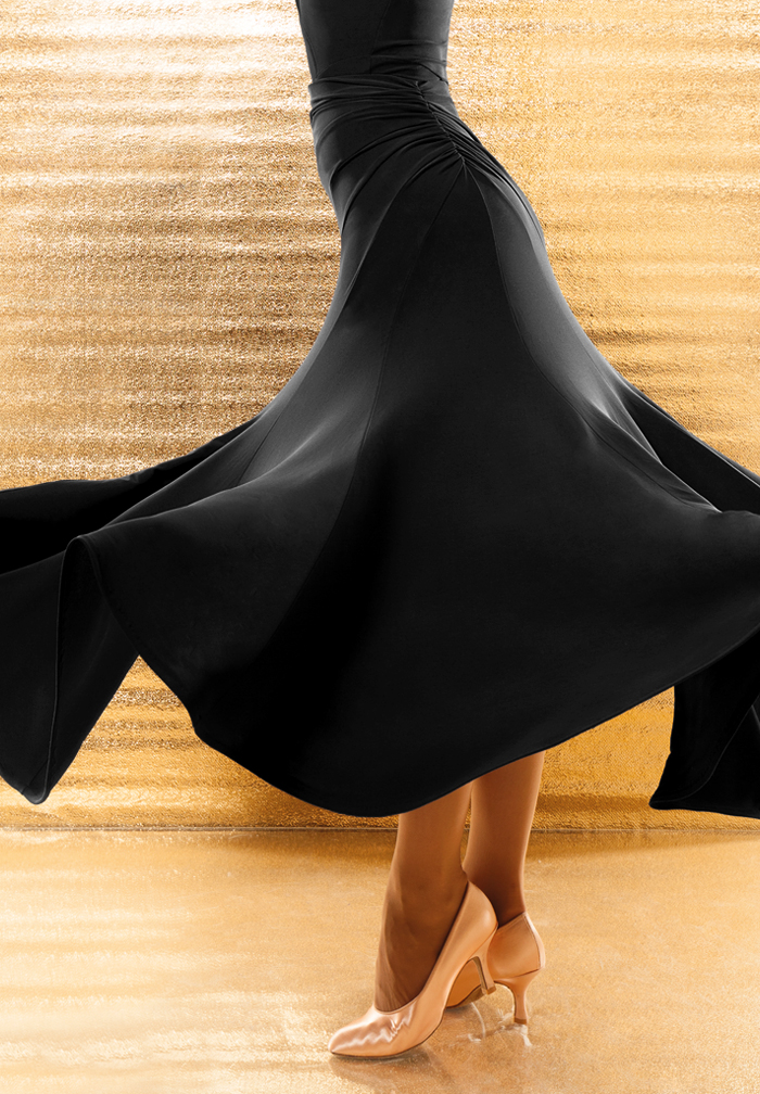 Black Modern Dance Costumes Flamenco Skirts Ballroom Skirts Latin Salsa Waltz Ballroom Dance Dress Skirt Dance Wear