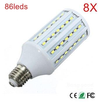 8PCS High Brighter 86led chips SMD 5730 E27 E14 AC90-260V AC110V 220V 240V LED Corn Light Bulb Warm/Cool White For Living Room
