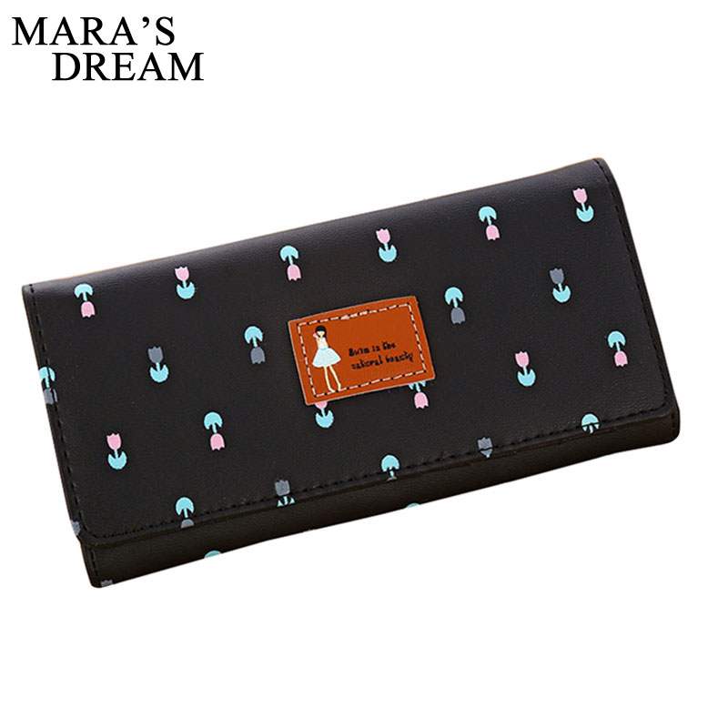 Mara's Dream Fashion Women Wallets Flower Leather Wallet Female Card Holder Coin Purse Woman's Wallet Women Purse Small Wallets