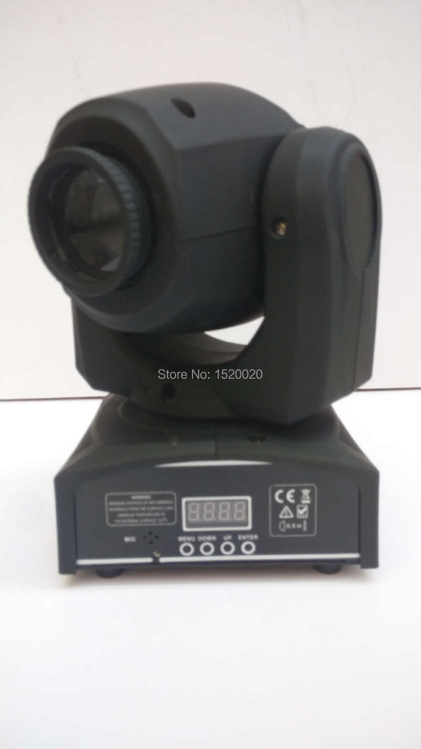 Hot 4xLOT 30w Gobo Spot mini Light Moving Head Gobo Beam Light 7 Gobo + 7 Color Mini moving head Dj Disco Lighting
