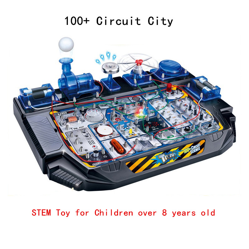 100+ Circuit City STEM Circuit interesting experiment Toy Science education Gift knowledge learning Tool with English manual Y100+ Circuit City STEM Circuit interesting experiment Toy Science education Gift knowledge learning Tool with English manual Y