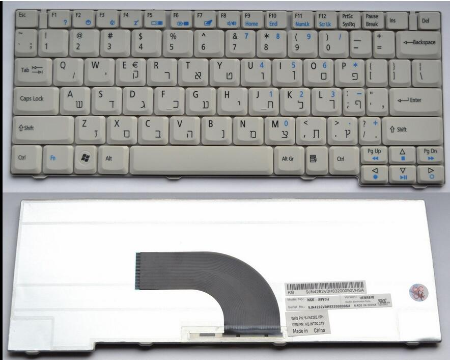 New Laptop keyboard for Acer TravelMate 6231 6252 6290 6291 6292 series QWERTY HEBREW/UK/SPANISH/ITALIAN/CANADIAN FRENCH layout laptop keyboard for acer silver without frame bulgaria bu v 121646ck2 bg aezqs100110