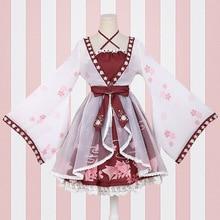 lolita Chinese style goldfish girl fake two pieces Dress printing ONE PIECE Dress Sakura blossom celebration