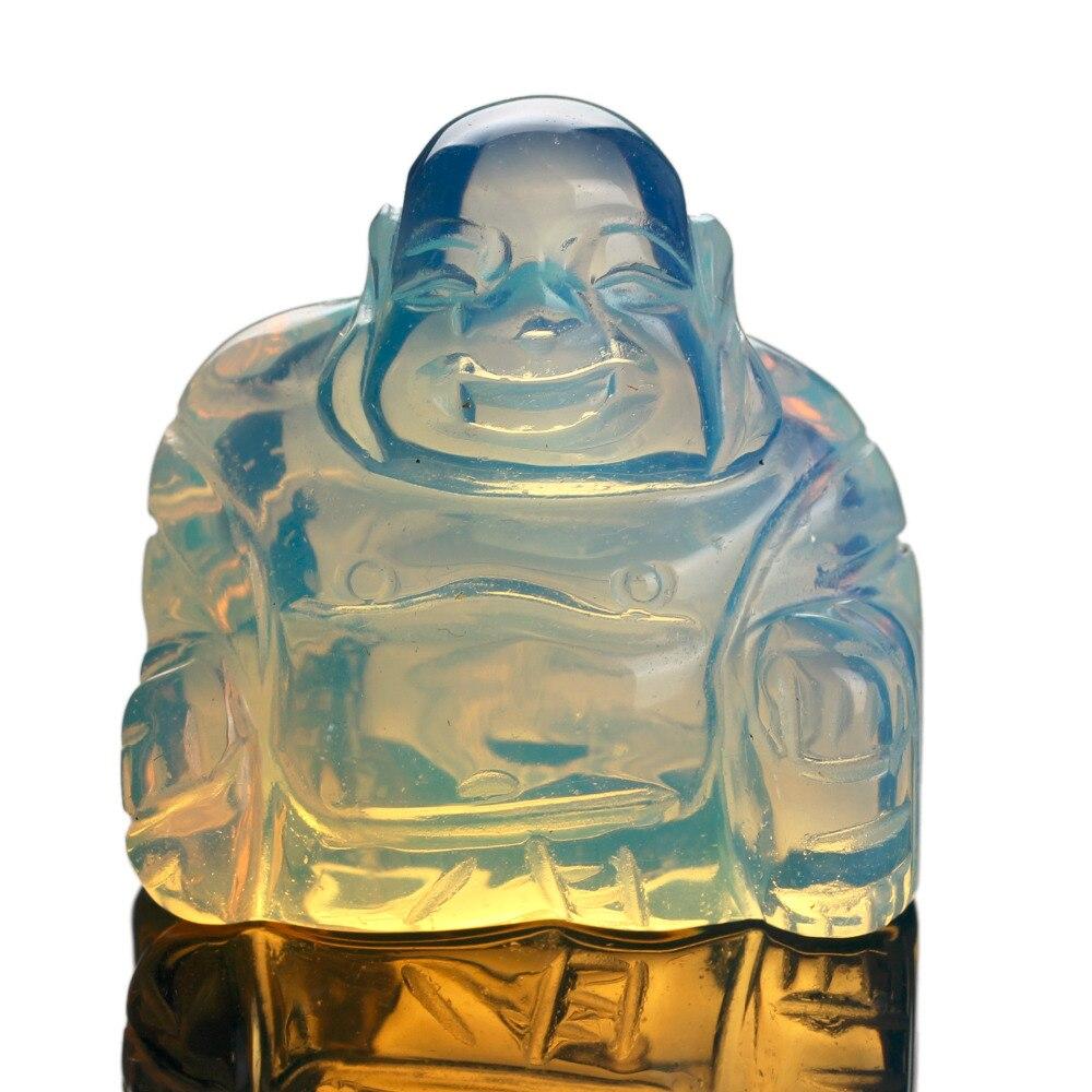 Opalite Naturstein geschnitzt Buddha 1,5 Zoll grün Aventurin - Modeschmuck - Foto 5