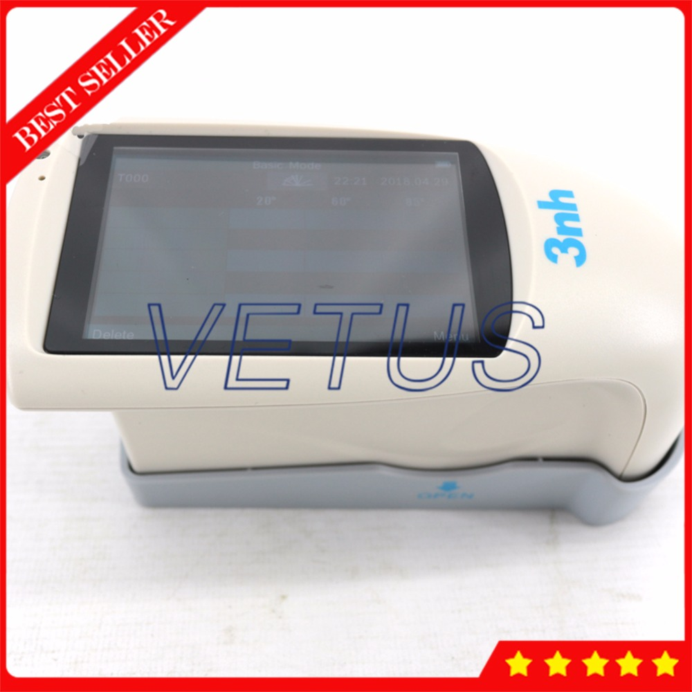 NHG268 3 Angle 20 60 85 Degree Gloss Meter Metal Surface Tester TFT Color Capacitive Touch Screen Display with Free QC Software Glossmeters    - title=