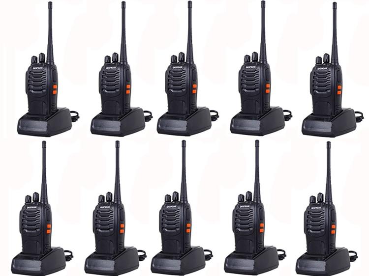 bilder für 10 stücke zwei-wege-radio walkie talkie handliche pofung bf-888s baofeng 888 s mit 5 watt cb radio scanner handheld amateurfunk hf-transceiver