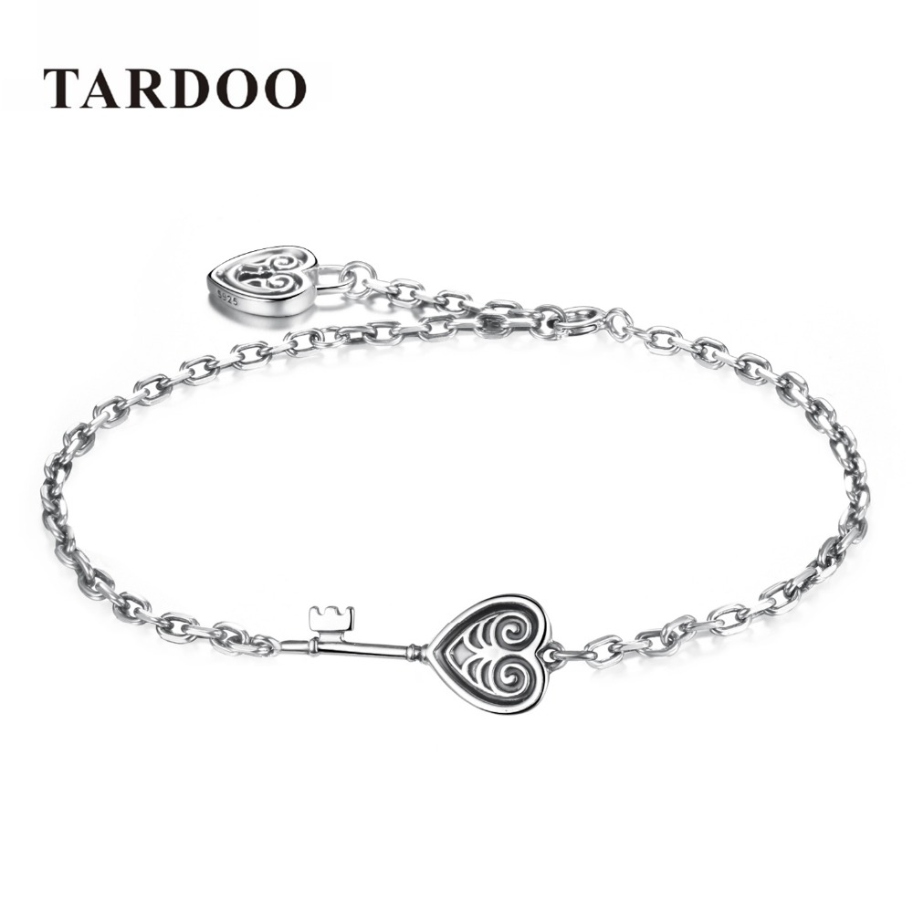Tardoo Hot Selling Sterling Silver Roman Chain Bracelet for Women Causal Style Charm Bracelet Bride Wedding Silver 925 jewelry tardoo punk style classic silver chain necklace for women
