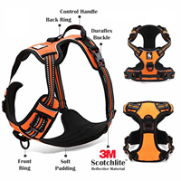Puppy Pet Dog 3M Reflective Vest Collar Harness Padded Dog Harness Easy Walk Large Dog Non