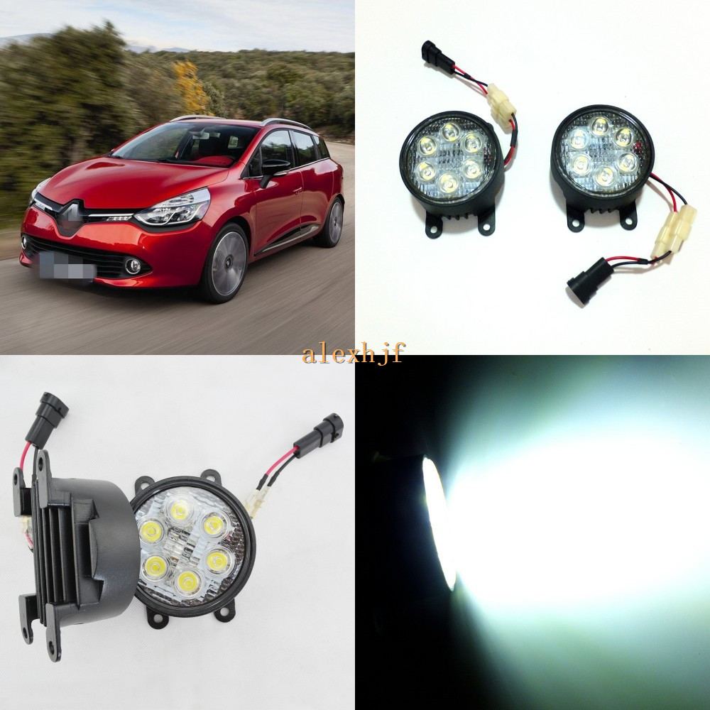 July King 18W 6LEDs H11 LED Fog Lamp Assembly Case for Renault Cilo 2012~2015 etc, 6500K 1260LM Daytime Running Lights color harmony logos cd